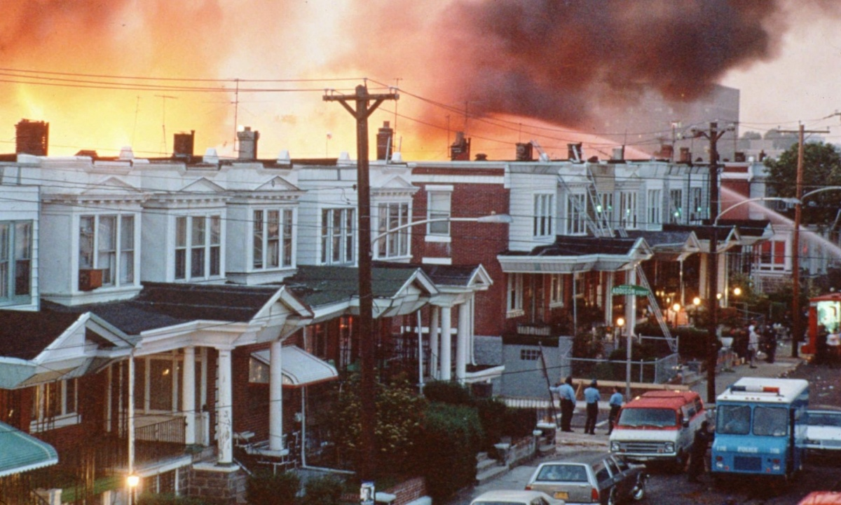 Philadelphia Police Fire 10,000 Bullets, Tear Gas, and Bomb House May 13, 1985